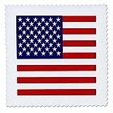 3drose QS _ 112805_ 2American flag-patriotic USA Sterne