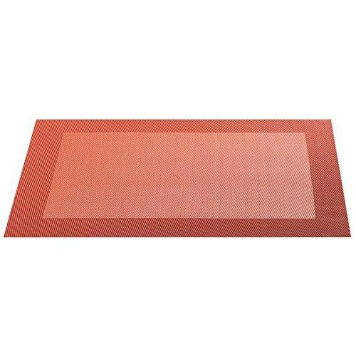 ASA 78053076 Tischset aus Kunststoff quadratisch, Dunkel-orange, 46 x 33 cm