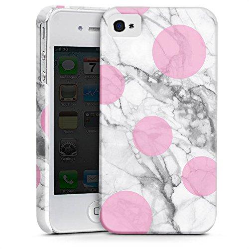 Apple iPhone X Silikon Hülle Case Schutzhülle Marmor Look Marble Punkte Premium Case glänzend