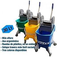 Carro de fregado con prensa PLUS 30 litros - Azul