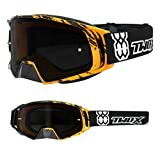 TWO-X Rocket Crossbrille Crush schwarz orange Glas getönt grau MX Brille Nasenschutz Motocross Enduro Motorradbrille Anti Scratch MX Schutzbrille Nose Guard