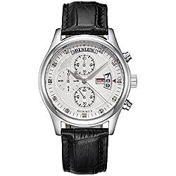 binlun Herren Outdoor Synchronisierte Funktion Armbanduhr mit Edelstahl bezel-black