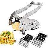 MILA Pommes Frites Schneider mit Twei Messereinsätzen und Stempel Für dünne oder größere Pommes