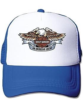 maneg Harley Logo Funny Trucker gorro con malla talla única (en 5colores) tapas, Azul real