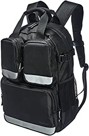 AmazonBasics Tool Bag Backpack, 23 Pocket with 3 Pocket Front, ZH1709063R2, Black
