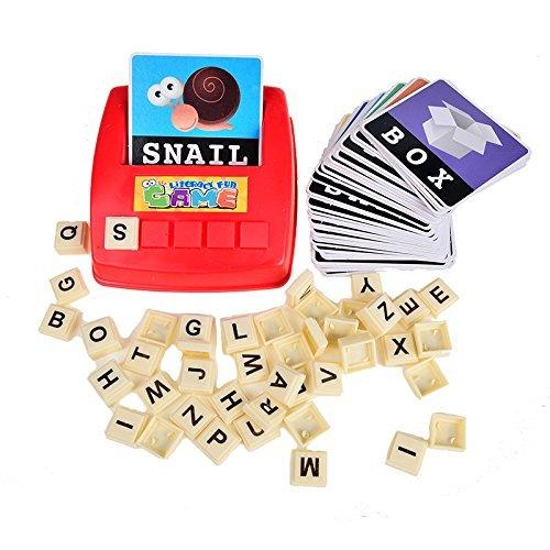 BOHS Alfabetización Wiz Diversión Juego - Palabras Mayúsculas Vista - 60 Tarjetas Flash - El Aprendizaje de Idiomas niño en Edad Preescolar Juguetes educativos