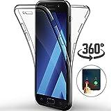Ptny Coque Samsung Galaxy J1 2016 (J120), [Touch 3.0 Version] [360 Degrés de Protection Tout] [Avant et Arrière Intégral Etui] Silicone Gel TPU Full Body Protection Housse Case Cover [Transparent]