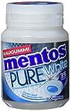 Mentos Kaugummi Pure White Sweet Mint, Box Kaugummi-Dragees, zuckerfrei mit Minze + Extrakten aus weißem Tee
