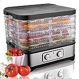 COOCHEER Déshydrateur Alimentaire 5 Étages avec Thermostat Réglable 35-70 ° C, Déshydrateur pour Viande,Poisson,Fruits,Légumes, Sans BPA