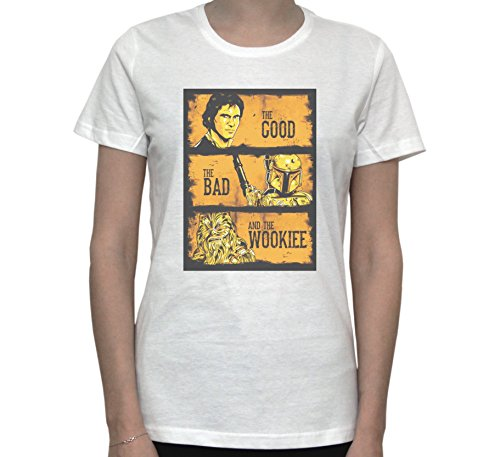 STAR WARS The Good The Bad And The Ugly POSTER Women's T-Shirt Blanc
