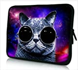 DCCN Laptophülle Neopren Notebook Sleeve mit Griff für 15 Zoll / 15,6 Zoll Laptop / Notebook / Netbook / MacBook / Ultrabook