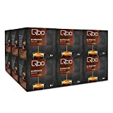 Qbo Kapseln - Espresso decaf (Kaffee, schonend entkoffeiniert, 100% Arabica) (18 x 8 Kapseln)