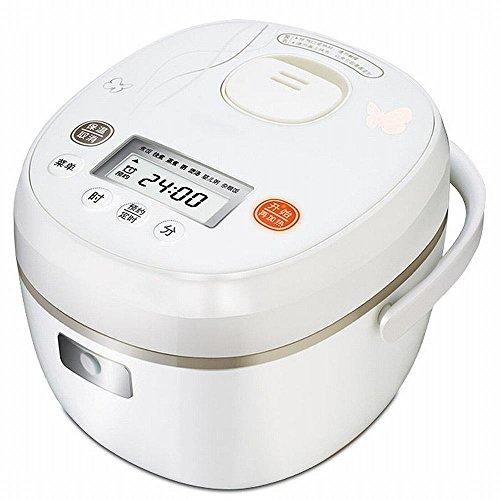 DHG Smart Kleine Reiskocher 2L Liter Intelligente Mode Mini-Termin 24-Stunden-Reiskocher,Weiß