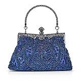 915d3108d5 Kaever-eu Borsa Pochette Retro Borsa Sacchetto Donne Eleganti Pochette Da  Sera (Blu scuro
