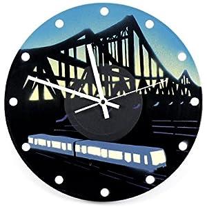 Uhr Wanduhr Berliner S-Bahnbrücke 2 Vinyluhr Schallplattenuhr