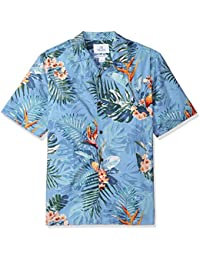 Marca Amazon - 28 Palms Relaxed-fit 100% Cotton Tropical Hawaiian Shirt Hombre