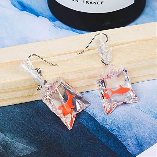 GUOHUANA Mode Ohrringe Mode Marke Schmuck Nette Persönlichkeit Goldfisch Ohrringe Sommer Stil Lange Ohrring Für Frauen Geschenk -