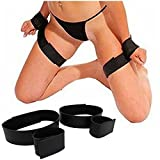 Sex Toys, Sex Toys4 pour Couple 2 Pair BDSM Handcuffs Leg Thigh Straps Bondage Set Restraints Fetish Sex Toy (Noir)