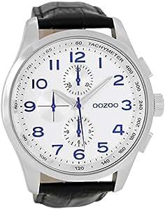 Oozoo C6768–Uhr für Männer, Lederband schwarz
