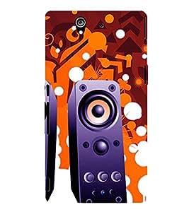 Fiobs Designer Phone Back Case Cover Sony Xperia Z :: Sony Xperia ZC6603 :: Sony Xperia Z L36h C6602 :: Sony Xperia Z LTE, Sony Xperia Z HSPA+ ( Music Speaker Theme )