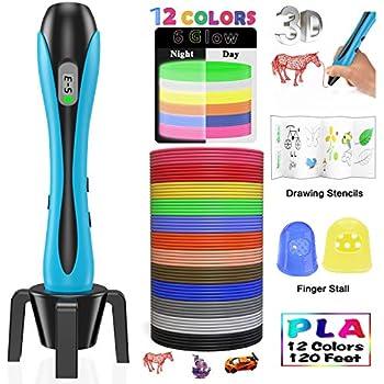 Blau Potenzial von Kinder erschlie/ßen tiefe Temperatur umweltfreundlich und harmlos MODAR 3D Stift Set PCL 3D Drucker Stift sch/önes Geschenk f/ür Kinder