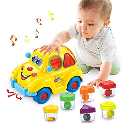 eug 6-18 Monate, Früherziehung Musikbus, Verschiedene Früchte, Musik, Licht und Rätsel, Kleinkind, Babyjungen und Mädchen 1-2 Jahre altes Geschenk ()