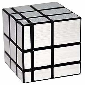 LSMY Spiegel Speziell geformte 3x3x3 Puzzle-Würfel Puzzle Würfel Spielzeug Schwarz Silber