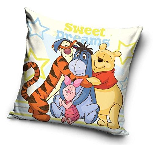 """Kissenbezug für Kinderkissen, Motive: Spiderman, Frozen, Minnie Maus, Cars, Pu der Bär, 40x 40cm, ohne Kissen, 100 {31306f5975d21410c638cbc542982cd55f14fef4e77c0533cecc9e9f8ce28bb9} Polyester, Winnie The Pooh, 40 x 40cm (16\"""" x 16\"""")"""