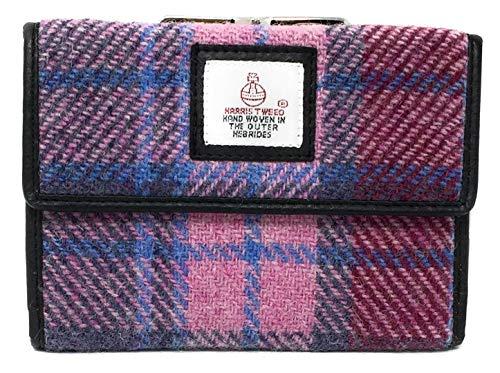 Harris Tweed Rosa Tartan Verschluss Geldbörse Verpackt