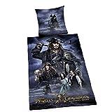Ropa de cama de Disney de piratas del caribe, gris.