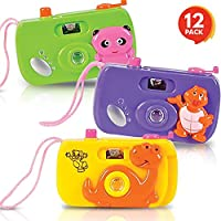 ‏‪ArtCreativity Kids' Camera Toy Set - Pack of 12 - Children's Pretend Play Prop with Images in Viewfinder - Birthday Party Favors, Goodie Bag Fillers, Idea for Boys, Girls, Toddler‬‏