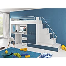 Wundervoll Furnistad Kinderzimmer Komplett Sun | Kinder Hochbett Mit Treppe,  Schreibtisch, Schrank Und Gästebett