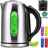 Monzana® Wasserkocher Teekessel Teekocher ✔Edelstahl ✔BPA frei ✔1,7 Liter ✔LED Beleuchtung ✔kabellos ✔2200W ✔Temperatureinstellung