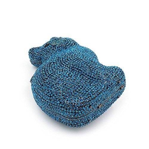 Chirrupy Chief , Pochette pour femme Argenté argent petit Bleu