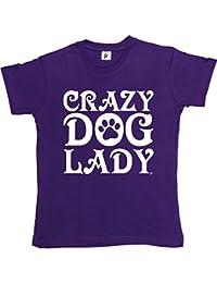 Fancy A Snuggle Crazy Dog Lady Woof Paw Print Womens T-Shirt