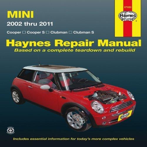 mini-cooper-cooper-s-clubman-clubman-s-2002-through-2011-haynes-repair-manual-1st-first-by-haynes-ed