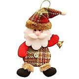 Junjie Weihnachts Puppe Dekoration Mini Anhänger Ornamente Geschenk Weihnachten Festival Weihnachtsmann Santa Design und Native Festival Spielzeug Speicherbedarf Mehrfarbig Hang Toy Doll