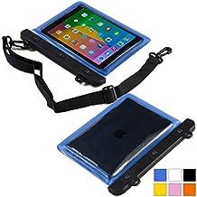 Funda resistente al agua tipo sobre Voda de Cooper Cases(TM) para tablet de Samsung Galaxy Tab 3 8.0 (T311/T315/T310) en Azul (diseño ligero, ventana táctil, hermética, asa para hombro ajustable)