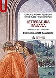 Letteratura italiana. Manuale per studi universitari: 1