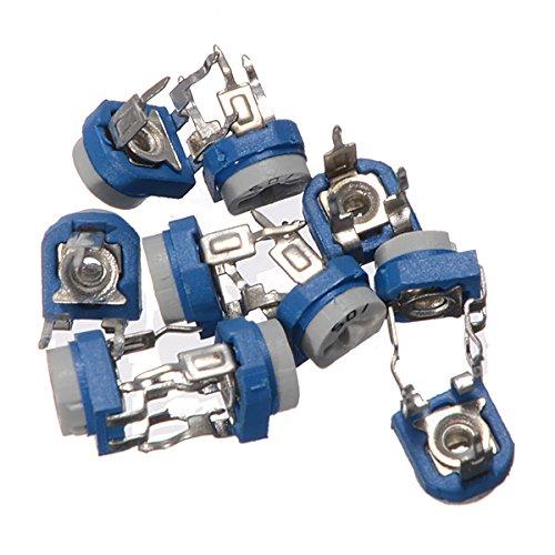 Bluelover Kit Del Surtido Del Potenciómetro Horizontal Del Ajuste De 100Pcs Rm065 Con La Caja De Almacenaje