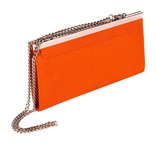 Portafoglio frizione Fashion di farfalla + confezione regalo/borse per donne arancione