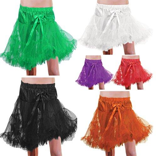 Crazy Chick New Girls Underskirt Swing Vintage Ruffle Petticoat Dance Wear Rockabilly Tutu Skirt Fancy Dress Age 3-8 Years