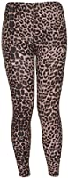 Womens Animal Aztec Letters Skull Multi Printed Pattern Long Full Stretch Elasticated Waistband Fit Ladies Leggings Pants Plus Size Brown Leopard Print Size 12 - 14