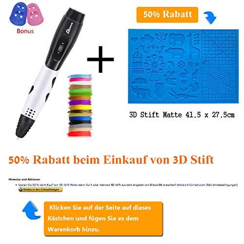 3D Stifte + PLA 16 Farben – 3D Stifte Set für Kinder mit PLA Farben 120 Fuß und 250 Schablonen eBook, Tipeye 06A 3D Pen als kreatives Geschenk für Erwachsene, Bastler zu kritzeleien, basteln, malen und 3D drücken - 2