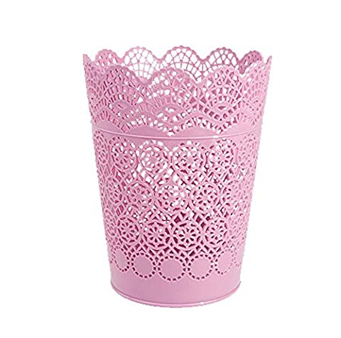 Haodou Trash Can Hollow Pattern Waste Basket Trash Storage Bin For Office Home Kitchen Bedroom Bathroom -