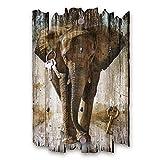 Kreative Feder Elefant Designer Schlüsselbrett, Hakenleiste Landhaus Style, Shabby aus Holz 30x20cm, HSB076