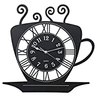 Plastic Cup Shaped Kitchen Clock - 40 X 40 Cm - Bd-clk-cs, Black