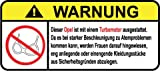 Opel Turbo Motor German Lustig Warnung Aufkleber Decal Sticker