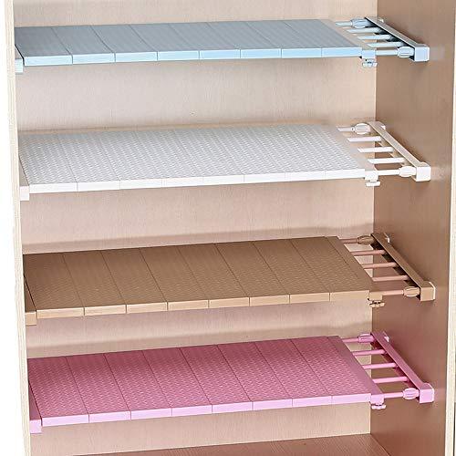 Homieco Ausziehbar Garderobensystem Regaltrenner Edelstahl-Stangen Ohne Bohren für Küche Bücherregal Kühlschrank