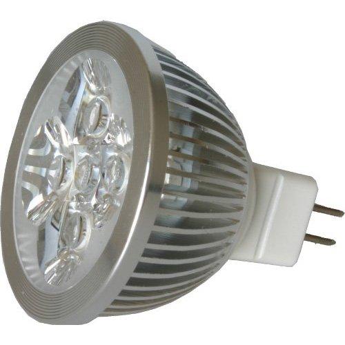 SODIAL(R) Ampoule/Lumiere LED MR16 4W 12V (340 Lumen-50 Watt equivalent) 3200K Angle de faisceau de 30 degres